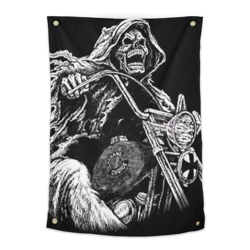 VCMC Skeleton Home Tapestry by Vegans Choice Motorcycle Club