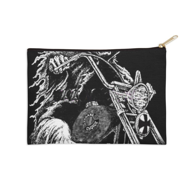 VCMC Skeleton Accessories Zip Pouch by Vegans Choice Motorcycle Club