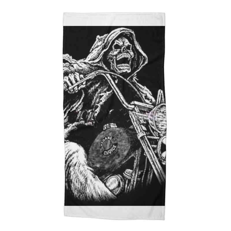 VCMC Skeleton Accessories Beach Towel by Vegans Choice Motorcycle Club