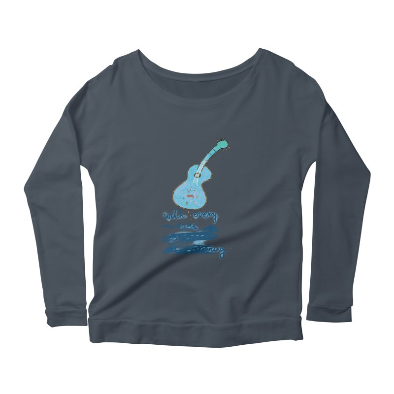 With every mistake... Women's Longsleeve Scoopneck  by VeraChuckandDave's Artist Shop