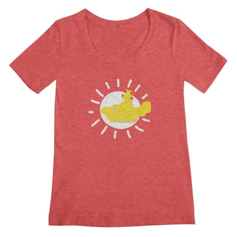 Here comes the sun... sub Women's Scoopneck by VeraChuckandDave's Artist Shop