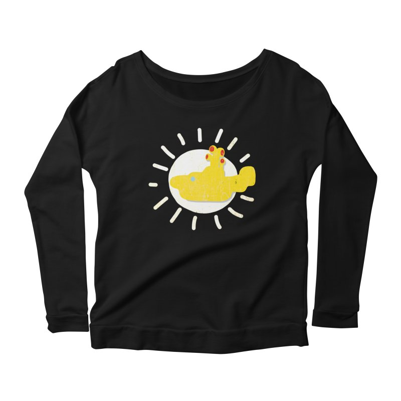 Here comes the sun... sub Women's Longsleeve Scoopneck  by VeraChuckandDave's Artist Shop