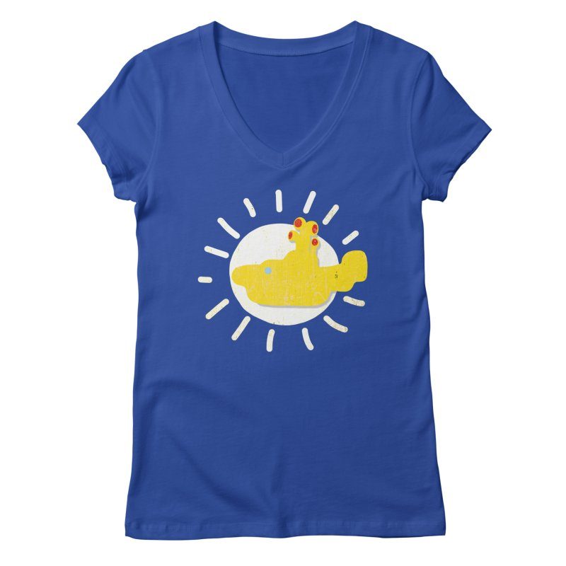 Here comes the sun... sub Women's V-Neck by VeraChuckandDave's Artist Shop