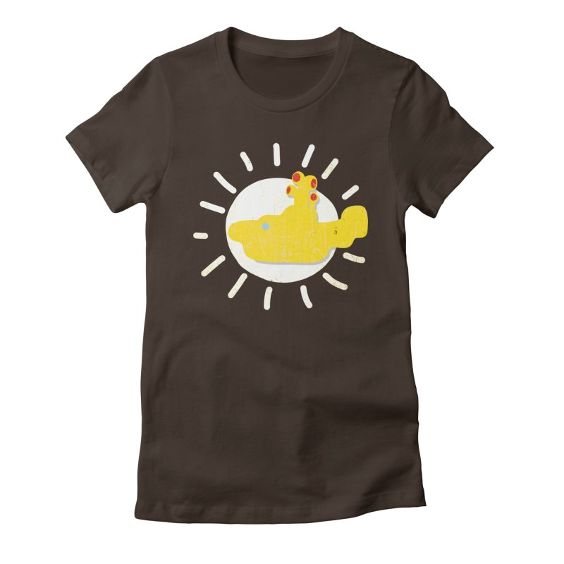 Here comes the sun... sub Women's Fitted T-Shirt by VeraChuckandDave's Artist Shop