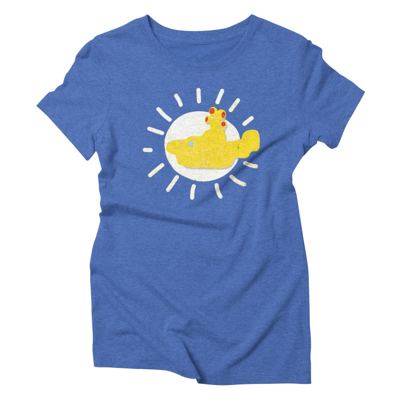 Here comes the sun... sub Women's Triblend T-Shirt by VeraChuckandDave's Artist Shop
