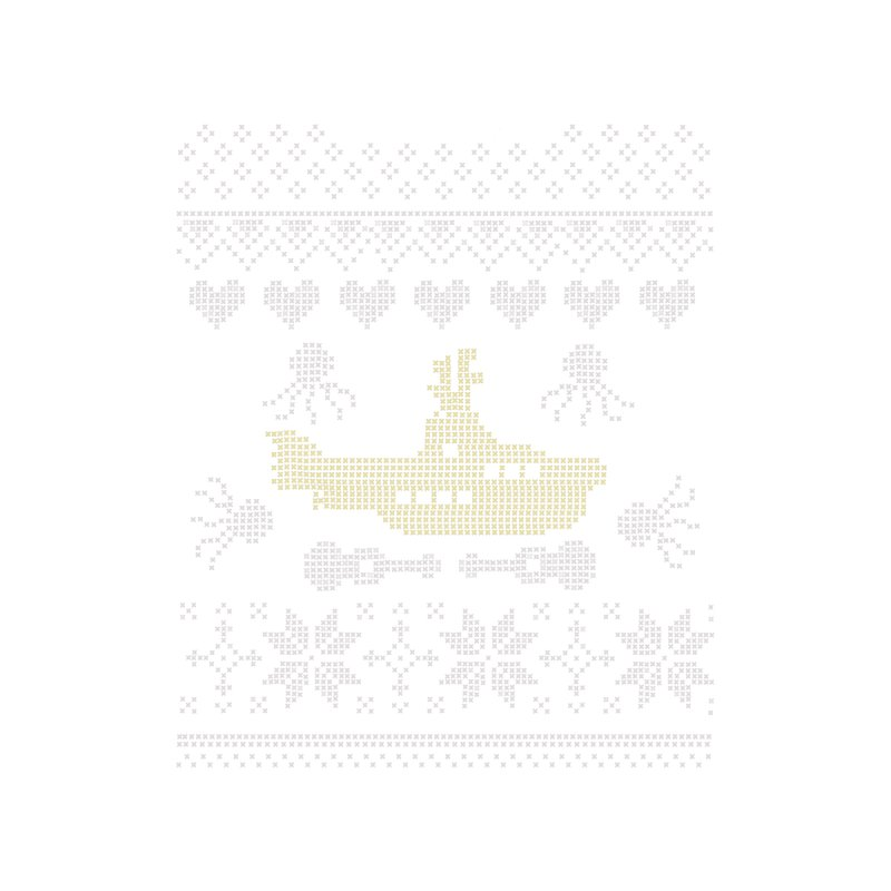 Cross stich Christmas Submarine by VeraChuckandDave's Artist Shop