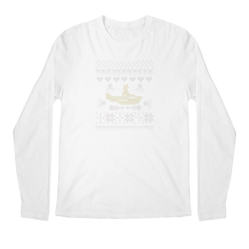 Cross stich Christmas Submarine Men's Longsleeve T-Shirt by VeraChuckandDave's Artist Shop