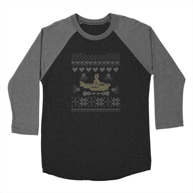Cross stich Christmas Submarine Women's Baseball Triblend T-Shirt by VeraChuckandDave's Artist Shop