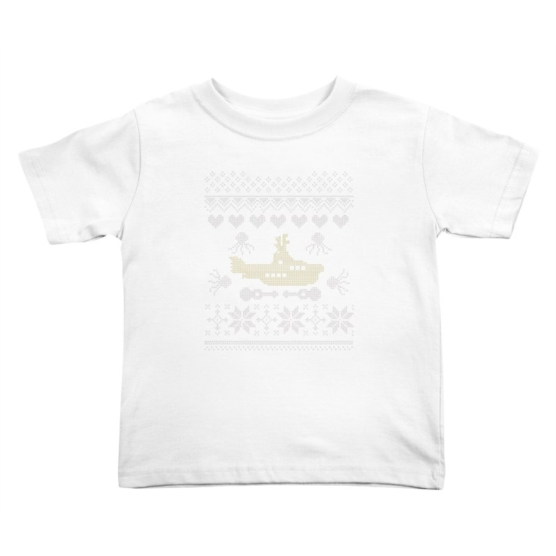 Cross stich Christmas Submarine Kids Toddler T-Shirt by VeraChuckandDave's Artist Shop