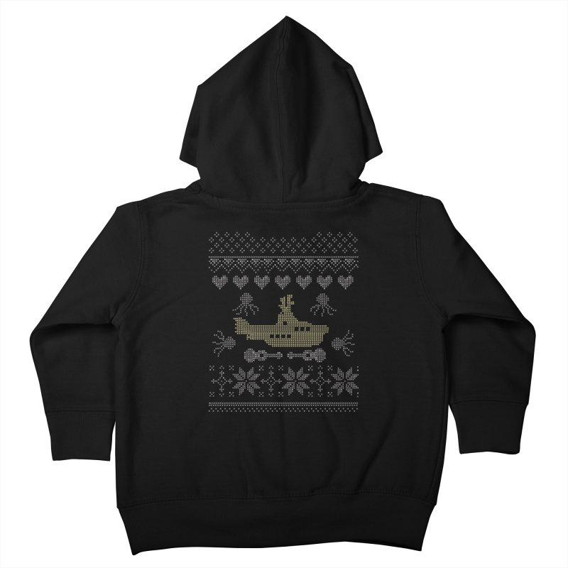 Cross stich Christmas Submarine Kids Toddler Zip-Up Hoody by VeraChuckandDave's Artist Shop