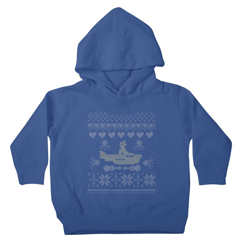 Cross stich Christmas Submarine Kids Toddler Pullover Hoody by VeraChuckandDave's Artist Shop