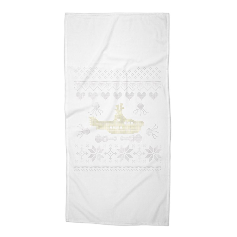 Cross stich Christmas Submarine Accessories Beach Towel by VeraChuckandDave's Artist Shop