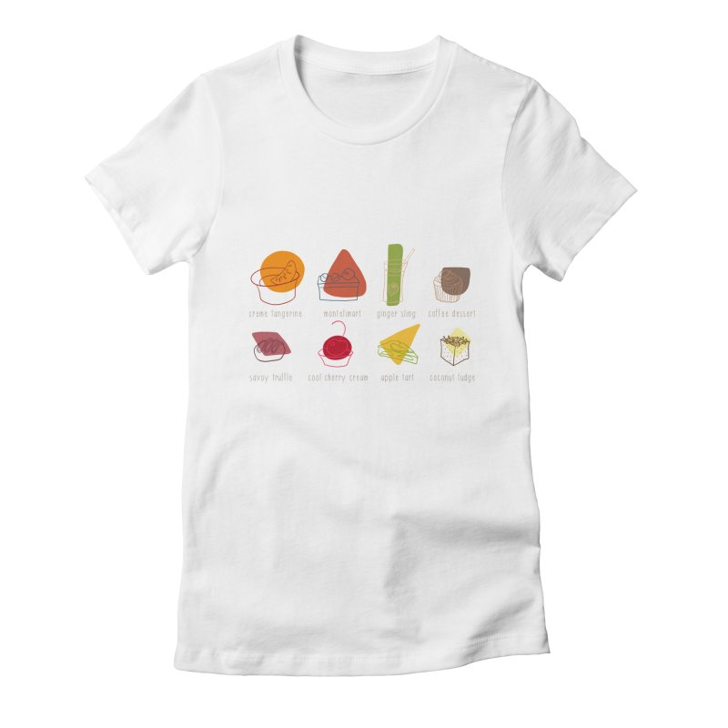 Savoy Truffle Women's Fitted T-Shirt by VeraChuckandDave's Artist Shop