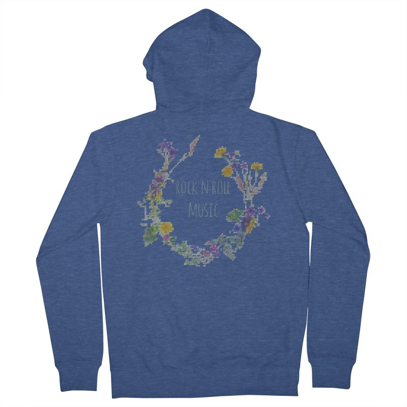 It must be rock n roll music! Women's Zip-Up Hoody by VeraChuckandDave's Artist Shop