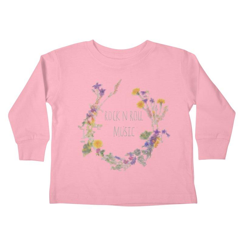 It must be rock n roll music! Kids Toddler Longsleeve T-Shirt by VeraChuckandDave's Artist Shop