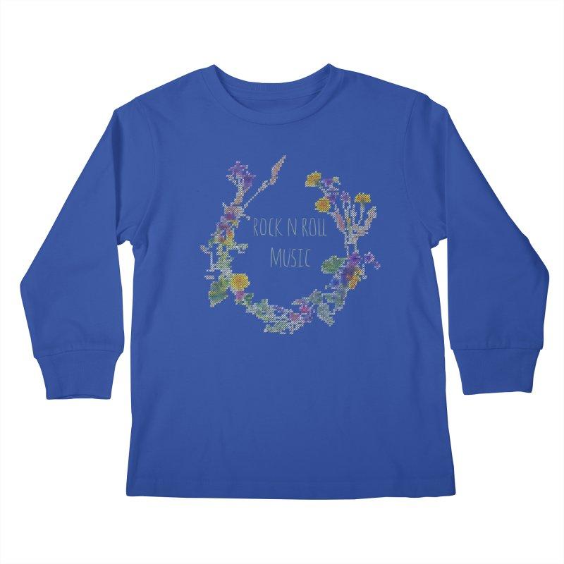 It must be rock n roll music! Kids Longsleeve T-Shirt by VeraChuckandDave's Artist Shop