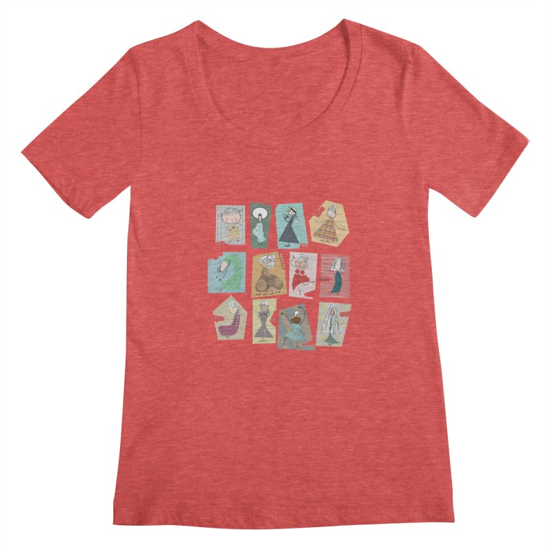 My name in a Beatles song! Women's Scoopneck by VeraChuckandDave's Artist Shop