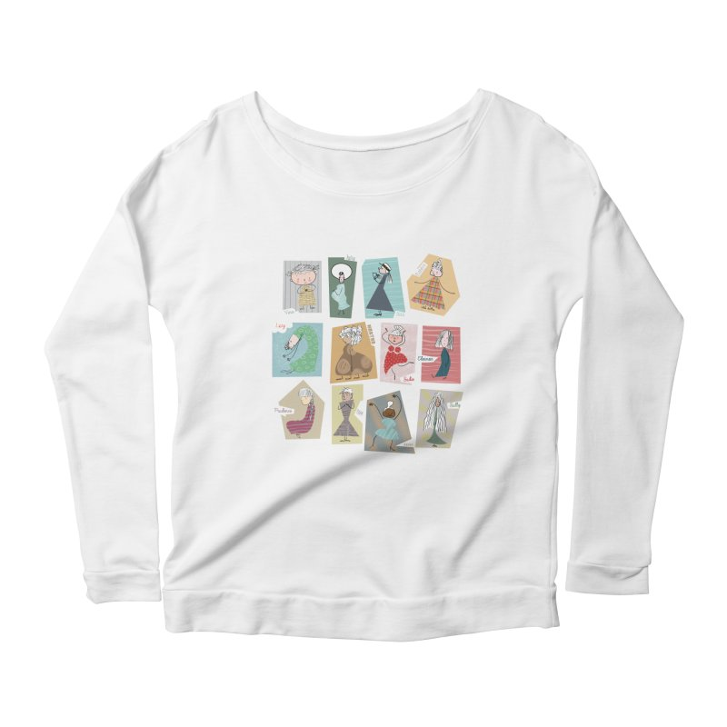 My name in a Beatles song! Women's Longsleeve Scoopneck  by VeraChuckandDave's Artist Shop
