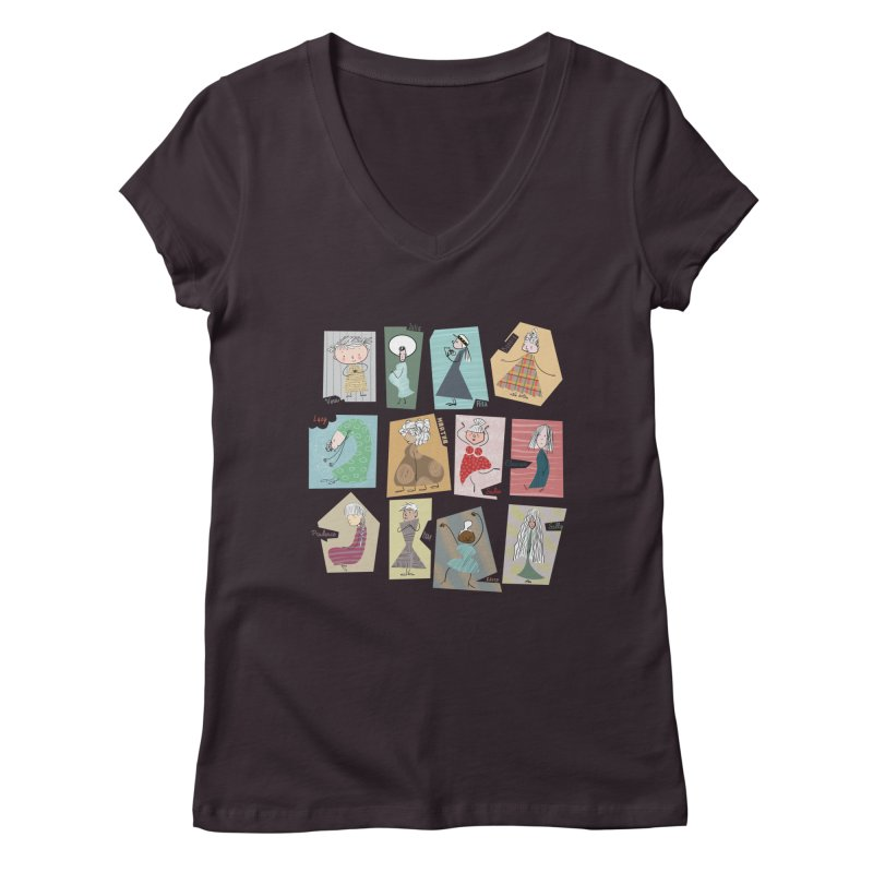My name in a Beatles song! Women's V-Neck by VeraChuckandDave's Artist Shop