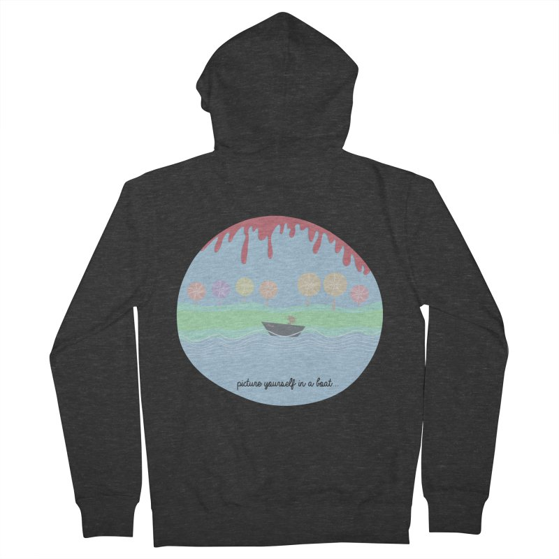 Picture yourself in a boat... Women's Zip-Up Hoody by VeraChuckandDave's Artist Shop