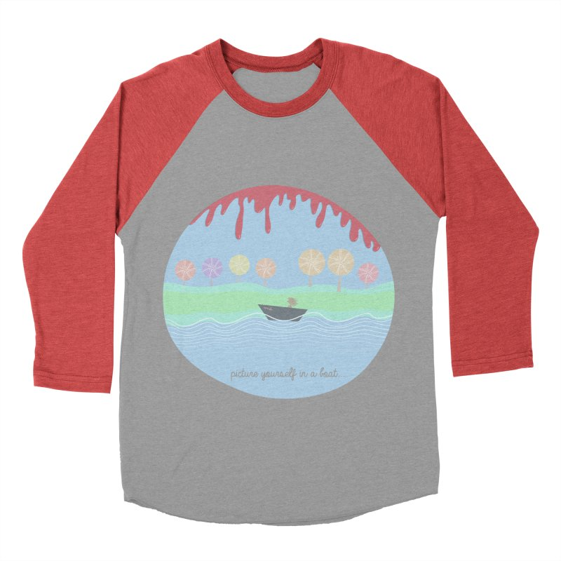Picture yourself in a boat... Women's Baseball Triblend T-Shirt by VeraChuckandDave's Artist Shop