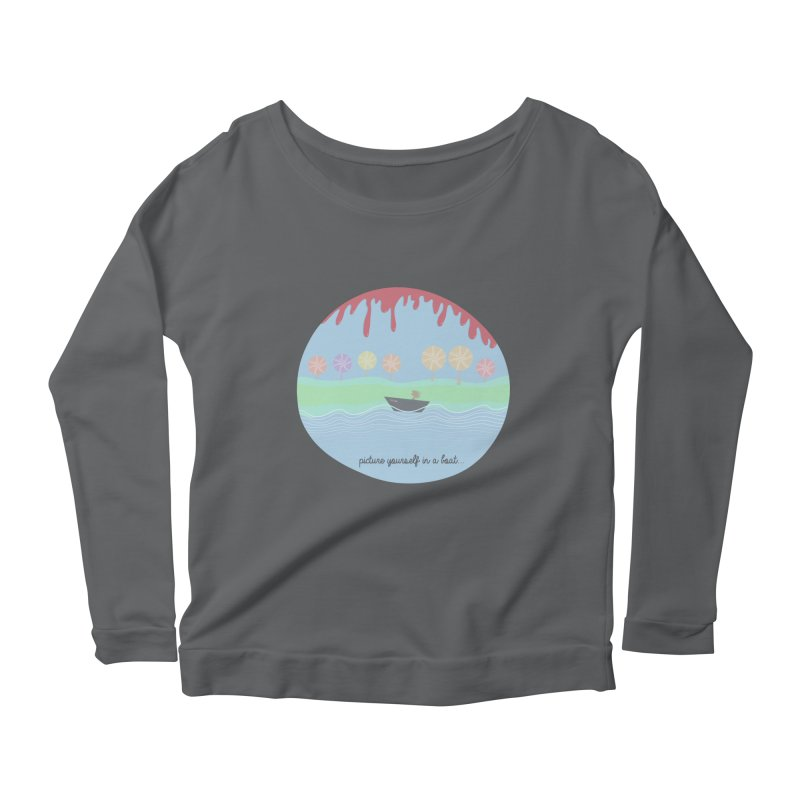 Picture yourself in a boat... Women's Longsleeve Scoopneck  by VeraChuckandDave's Artist Shop