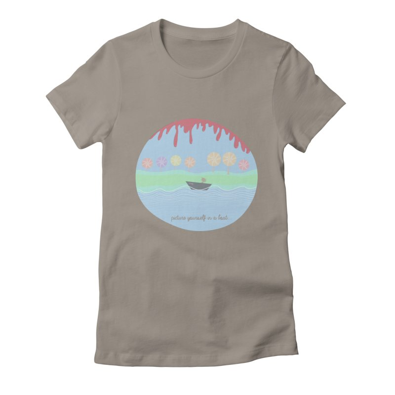 Picture yourself in a boat... Women's Fitted T-Shirt by VeraChuckandDave's Artist Shop
