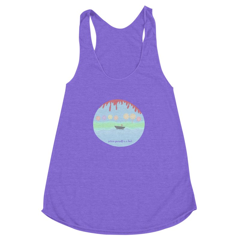 Picture yourself in a boat... Women's Racerback Triblend Tank by VeraChuckandDave's Artist Shop