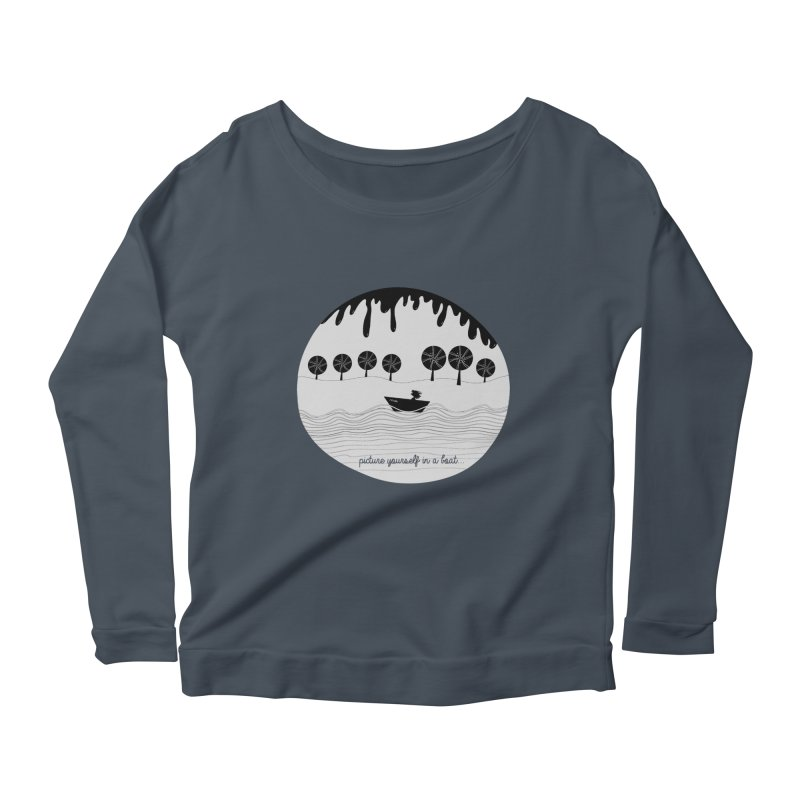 Picture yourself..., a variation. Women's Longsleeve Scoopneck  by VeraChuckandDave's Artist Shop