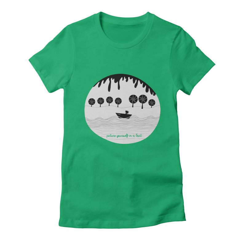 Picture yourself..., a variation. Women's Fitted T-Shirt by VeraChuckandDave's Artist Shop