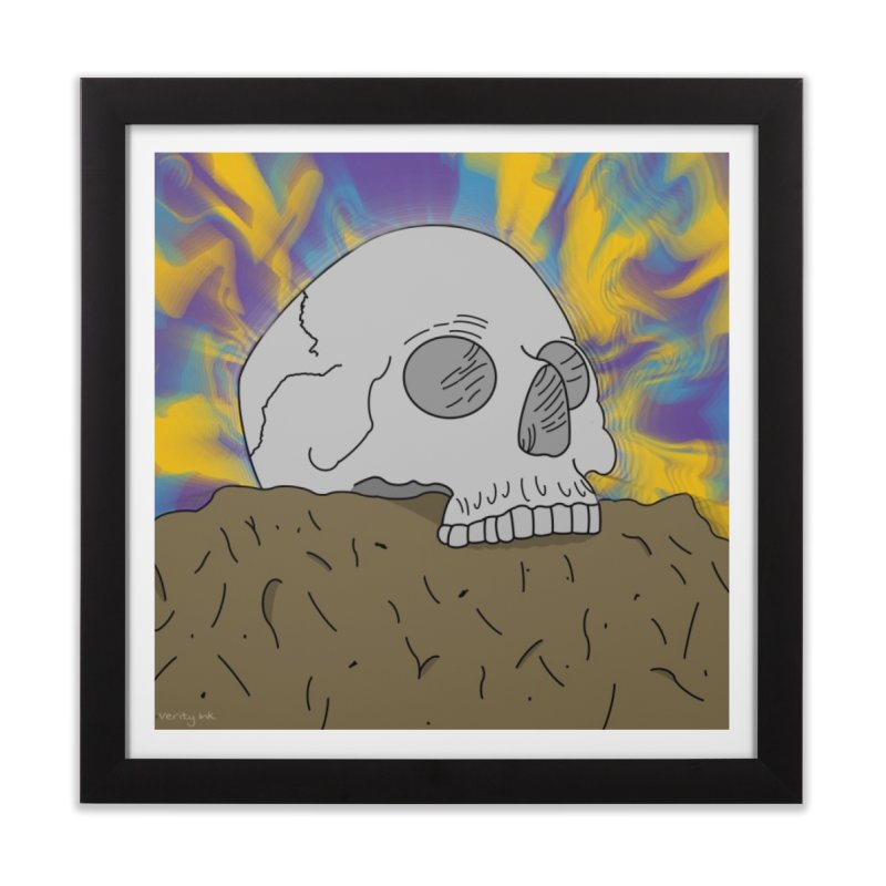 Head Trip Home Framed Fine Art Print by Verity Ink