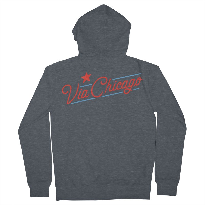 Via Baseball T Women's Zip-Up Hoody by Via Chicago's March Shop