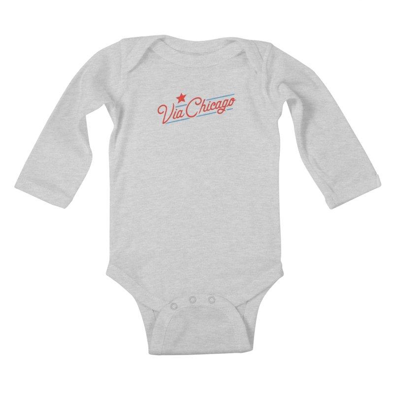 Via Baseball T Kids Baby Longsleeve Bodysuit by Via Chicago's March Shop