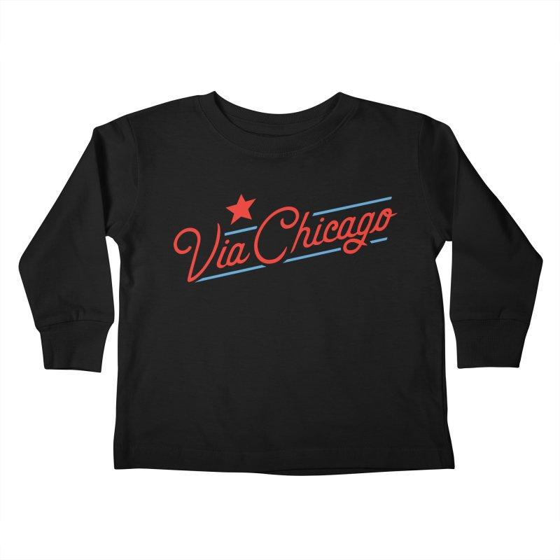 Via Baseball T Kids Toddler Longsleeve T-Shirt by Via Chicago's March Shop