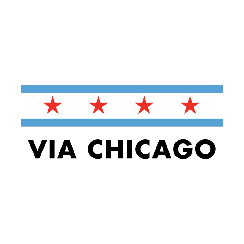 Via Chicago Flag Men's T-Shirt by Via Chicago's March Shop