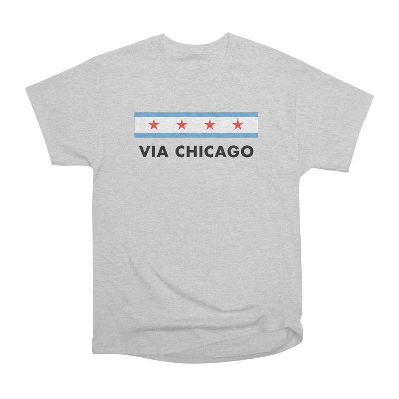 Via Chicago Flag Men's T-Shirt by Via Chicago's March Shop