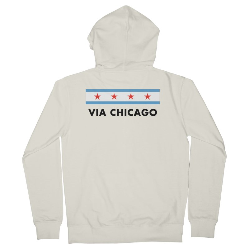 Via Chicago Flag Women's Zip-Up Hoody by Via Chicago's March Shop