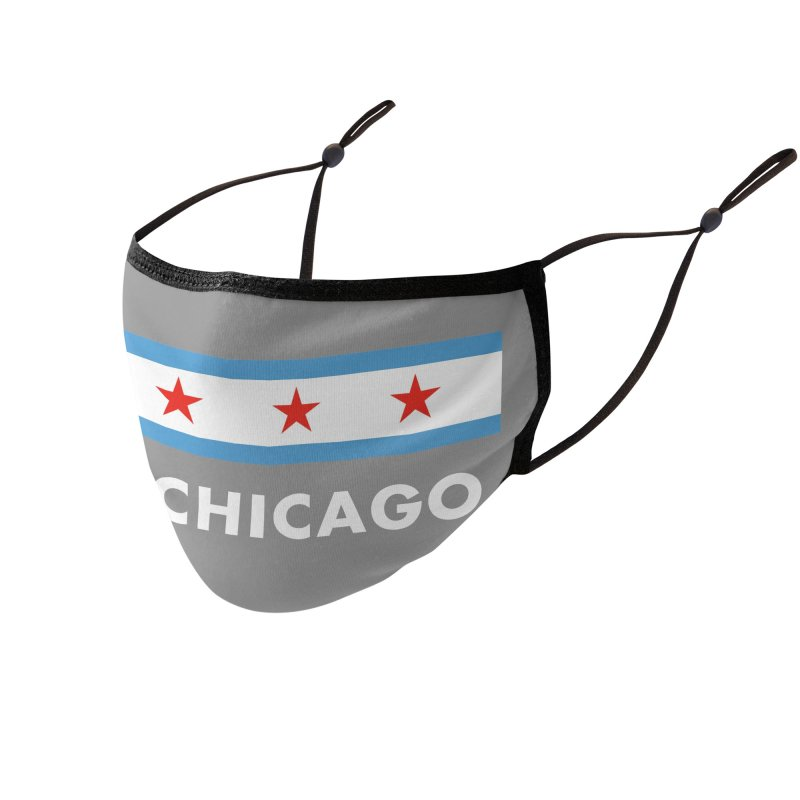 Via Chicago Flag 2 Accessories Face Mask by Via Chicago's March Shop