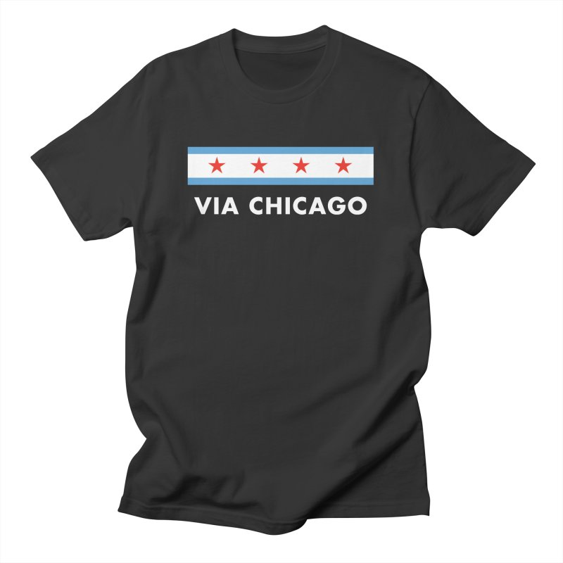 Via Chicago Flag 2 Men's T-Shirt by Via Chicago's March Shop