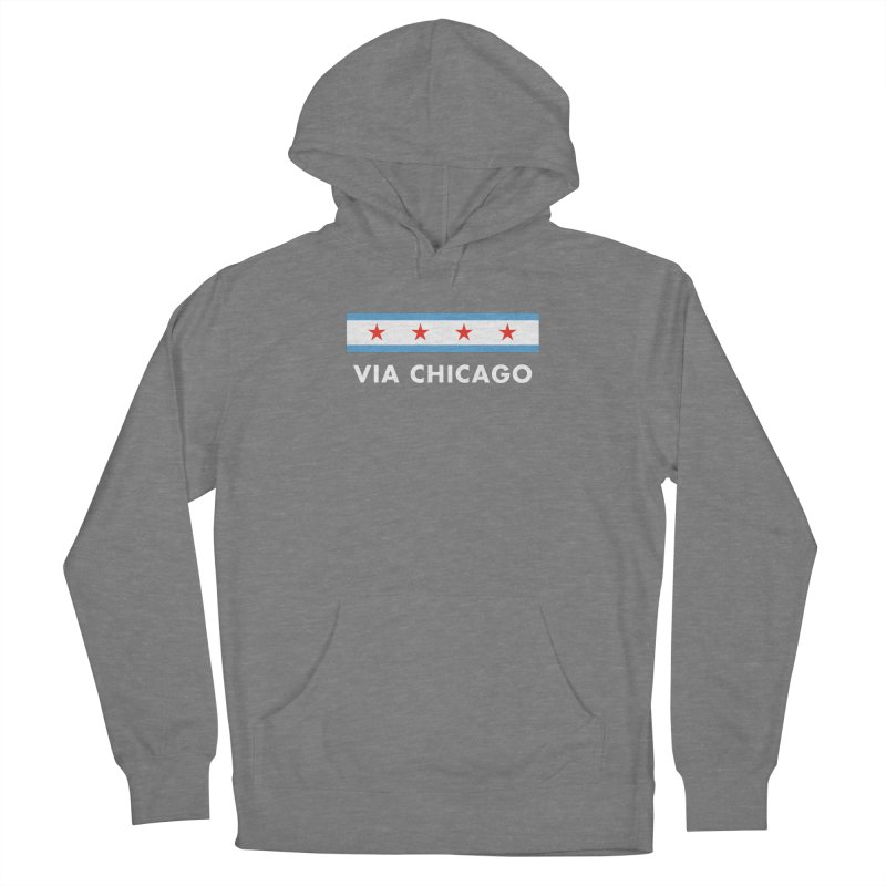 Via Chicago Flag 2 Women's Pullover Hoody by Via Chicago's March Shop