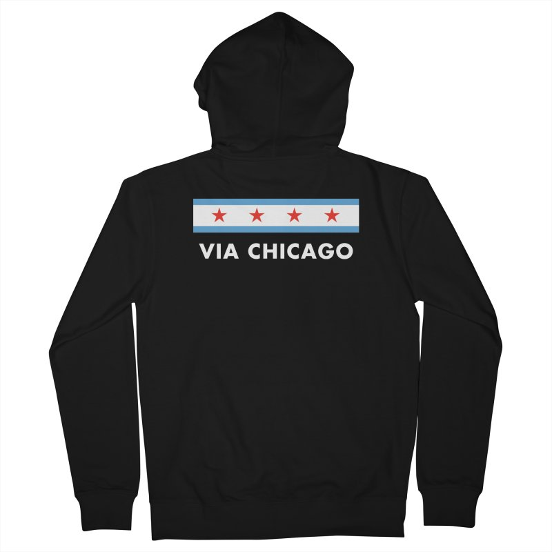 Via Chicago Flag 2 Women's Zip-Up Hoody by Via Chicago's March Shop