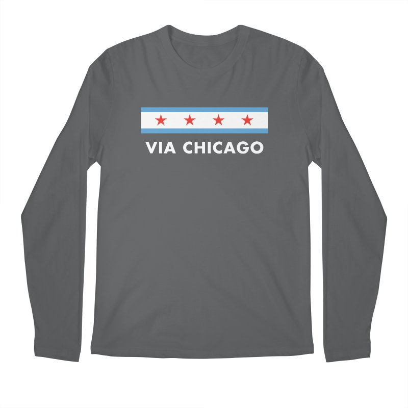 Via Chicago Flag 2 Men's Longsleeve T-Shirt by Via Chicago's March Shop