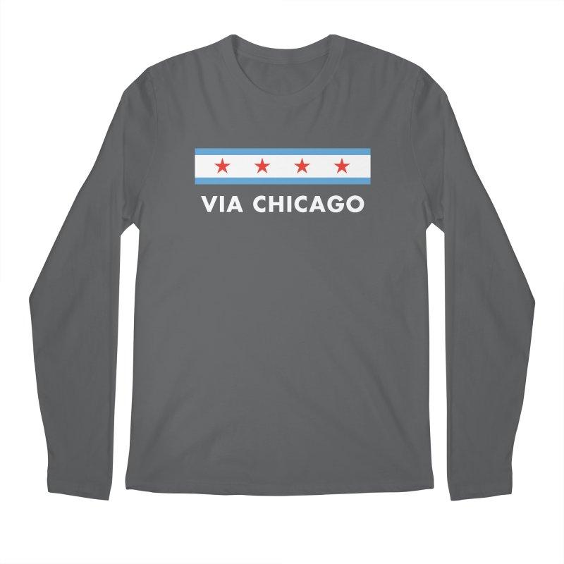 Via Chicago Flag 2 Men's Longsleeve T-Shirt by Via Chicago's March Shop