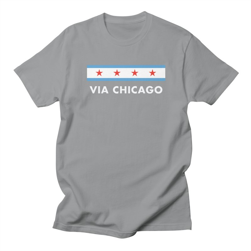 Via Chicago Flag 2 Men's T-Shirt by Via Chicago's March Shop