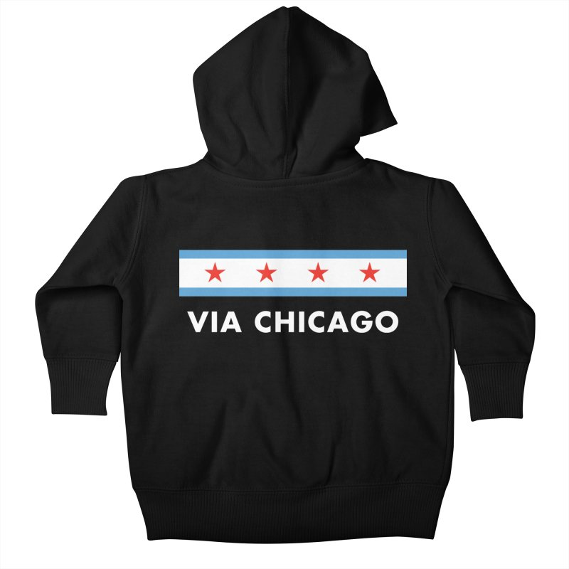 Via Chicago Flag 2 Kids Baby Zip-Up Hoody by Via Chicago's March Shop