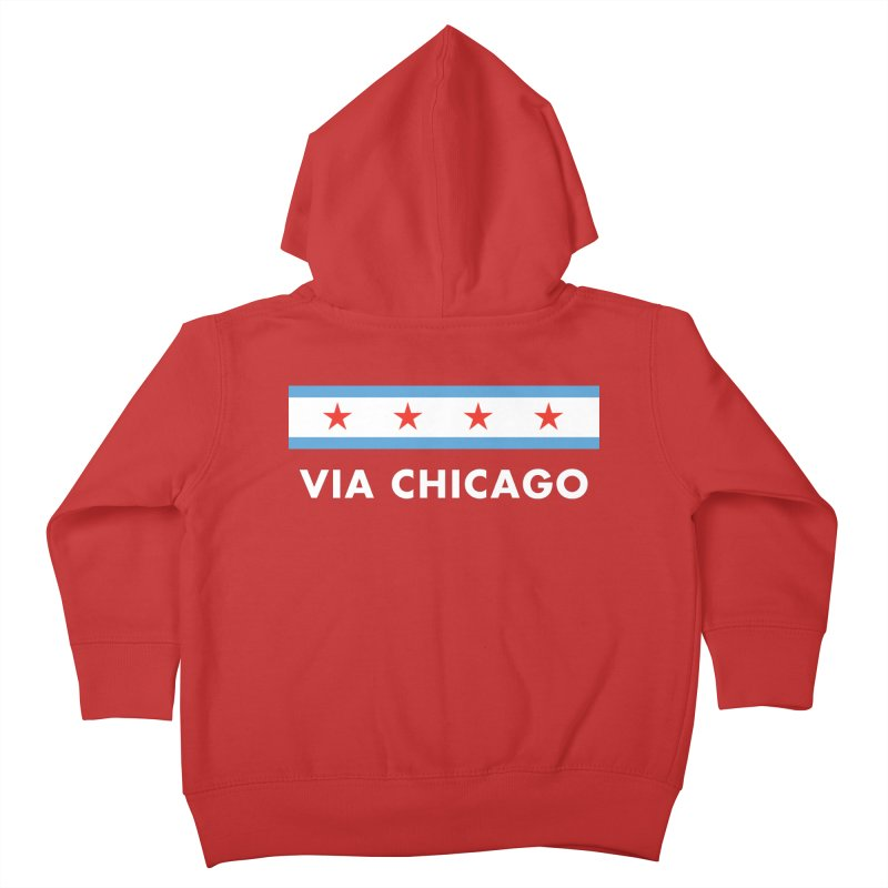 Via Chicago Flag 2 Kids Toddler Zip-Up Hoody by Via Chicago's March Shop