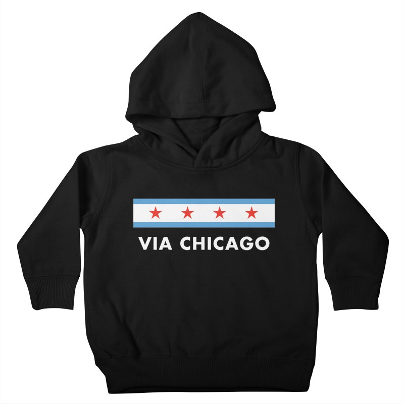 Via Chicago Flag 2 Kids Toddler Pullover Hoody by Via Chicago's March Shop