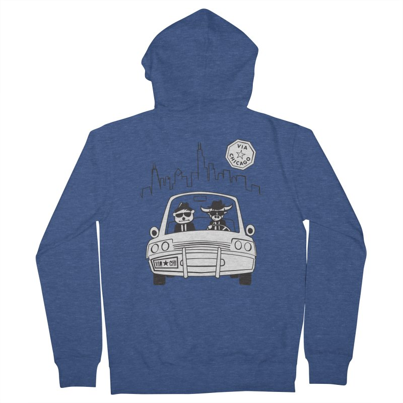 Via Blues Bros Women's Zip-Up Hoody by Via Chicago's March Shop
