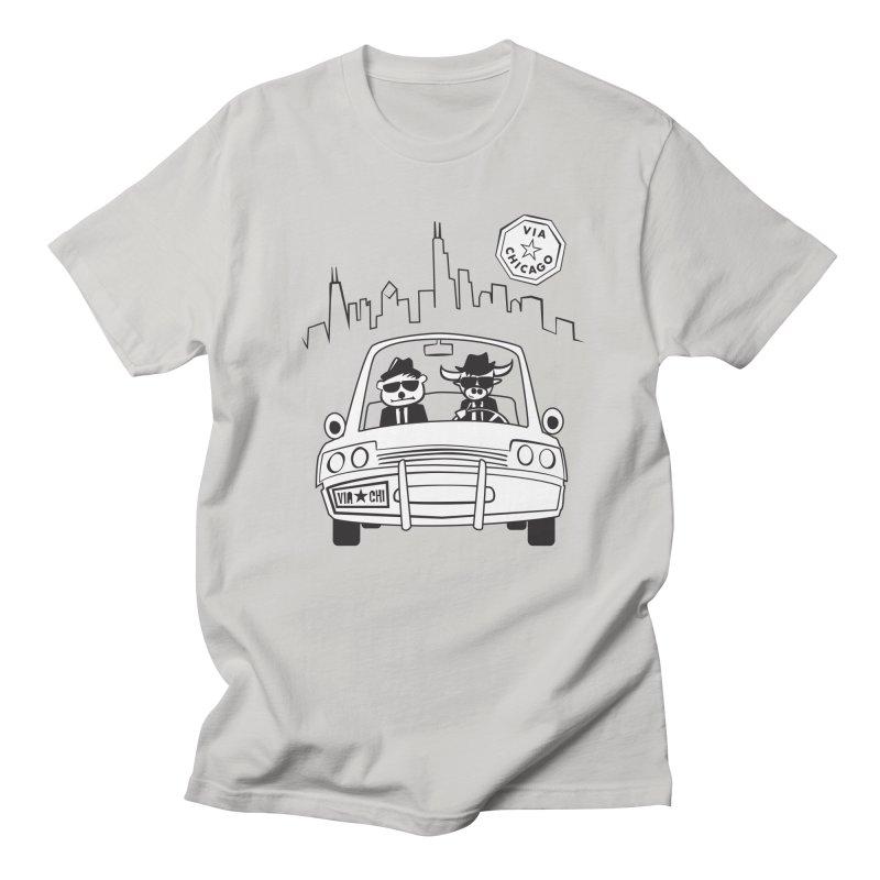 Via Blues Bros Men's T-Shirt by Via Chicago's March Shop