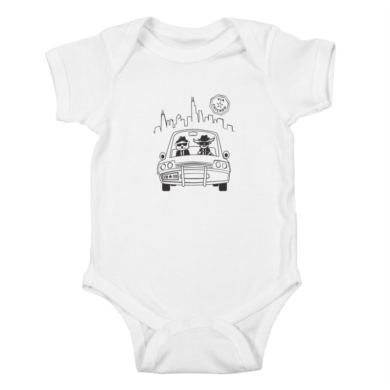 Via Blues Bros Kids Baby Bodysuit by Via Chicago's March Shop